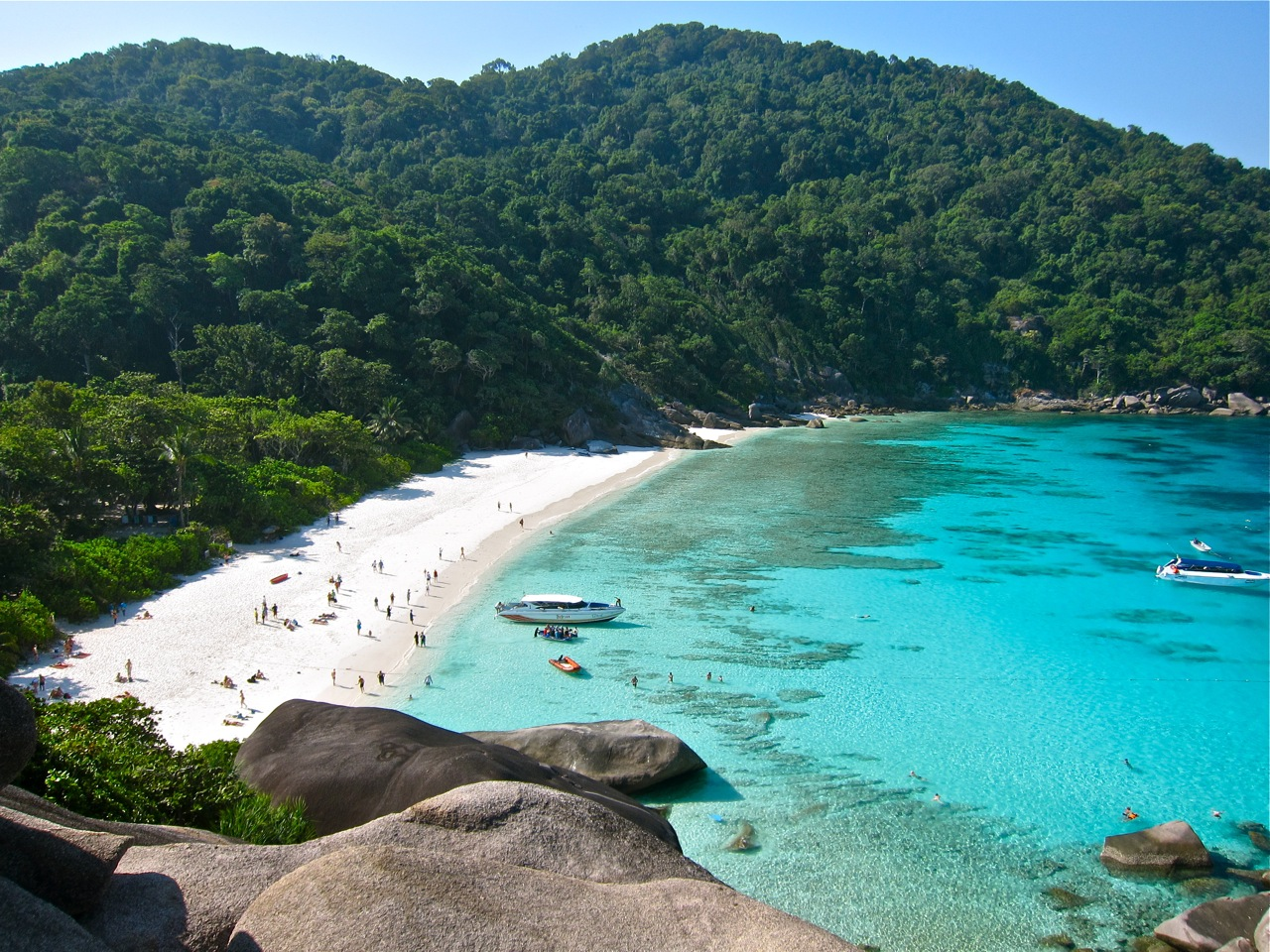The beach at Similan Island Eight