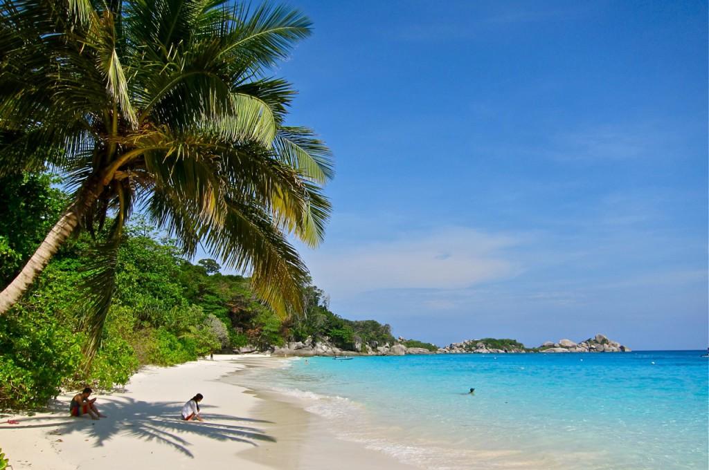 Beach at Princess Bay on Similan Island Four