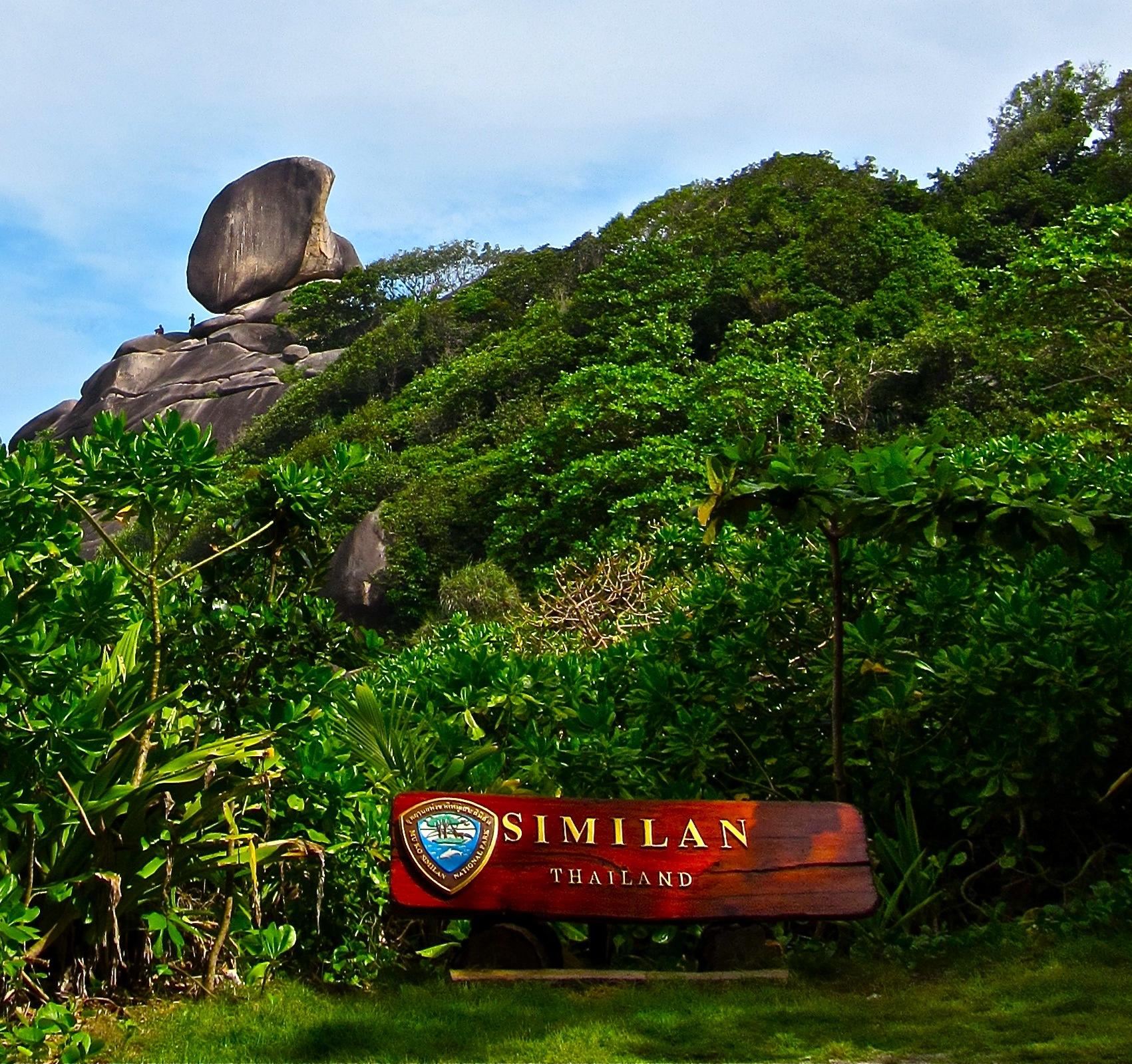 Similan Sign and Sail Rock