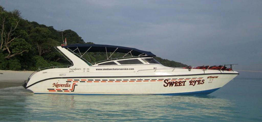 twin engine speedboat